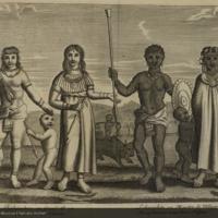 Rohandria ou grand & sa femme tous deux blanes, lohauohist ou maistre de village et sa femme tous deux negres from Flacourt's Histoire de la grande isle Madagascar