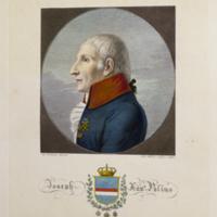 Portrait of Giuseppe S. Poli, frontispiece from his Testacea vtrivsqve Siciliae
