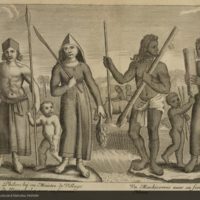 European family and Masikoro family from Flacourt's Histoire de la grande isle Madagascar