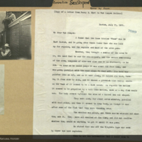 Images and copy of letter from Percy E. Hunt to Van Campen Heilner regarding sea curiosities viewed from the Foam, July 21, 1925, Boston