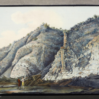 Hamilton surveying a site on Somma-Vesuvius from Hamilton's Campi Phlegraei: observations on the volcanos of the Two Sicilies