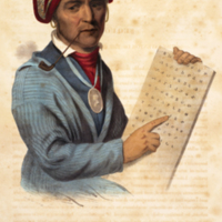 Sequoyah (Cherokee) portrait from McKenney's History of the Indian tribes of North America