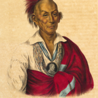 Black Hawk (Sauk) portrait from McKenney's History of the Indian tribes of North America