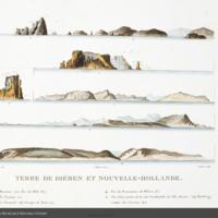 Terre de diémen et nouvelle-holland from Péron's Voyage de découvertes aux terres australes