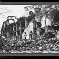 Houses damaged by earthquake, Messina, Italy, 1908