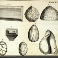 Various diamonds including the Great Mogul from Tavernier's Les six voyages de Jean Baptiste Tavernier