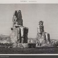 Colossi of Memmon from Description de l'Égypte