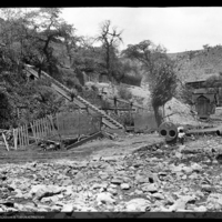 Copper Queen Smelting Works after the flood of 1890, Bisbee, Arizona