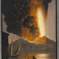 Somma-Vesuvius in full eruption at night from Hamilton's Supplement to the Campi Phlegraei