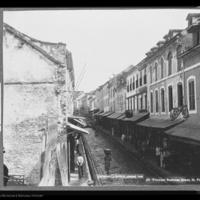 Rue Victor Hugo, principal business street, Saint Pierre, Martinique, 1898