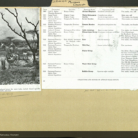 Water Hole Group and list of collectors and donors for Akeley Hall of African Mammals, pages from Natural History magazine mounted to Antiodactyla folder