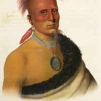 Sharitarish (Pawnee) portrait from McKenney's History of the Indian tribes of North America