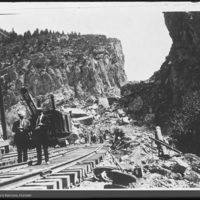 Photo sent by Dr. Charles C. Mook showing damage from earthquake, Three Forks, Montana, 1925