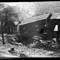 Street in Bisbee, Arizona after the flood of 1890