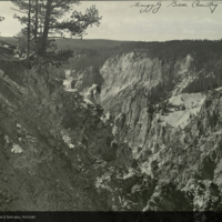 <em>Grizzly Bear Country, </em>mountains, photograph for use in Grizzly Bear Group (section 1), Hall of North American Mammals